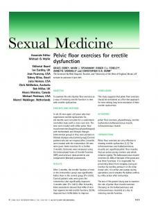 Pelvic floor exercises for erectile dysfunction - Home