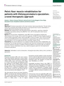 Pelvic floor muscle rehabilitation for patients with ... - SAGE Journals