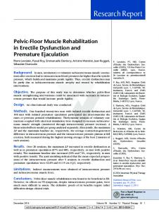 Pelvic-Floor Muscle Rehabilitation in Erectile ... - MediSexInfo.com