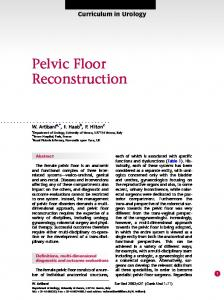 Pelvic Floor Reconstruction - European Urology