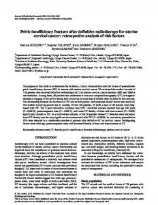 Pelvic insufficiency fracture after definitive ... - BioMedSearch