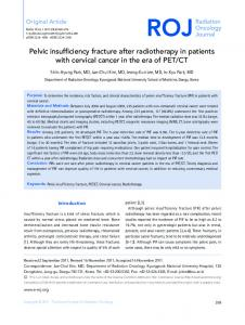 Pelvic insufficiency fracture after radiotherapy in ... - BioMedSearch