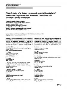 pemetrexed in patients with metastatic transitional cell ... - Springer Link