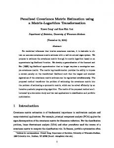 Penalized Covariance Matrix Estimation using a ...