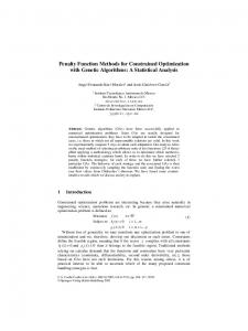 Penalty Function Methods for Constrained Optimization ... - Springer Link
