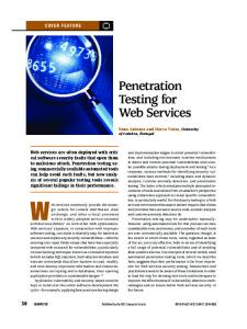 Penetration Testing for Web Services - IEEE Xplore
