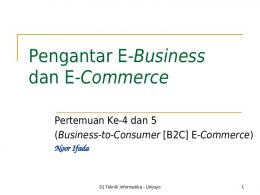 Pengantar E-Business dan E-Commerce