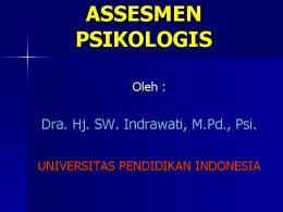 pengertian tes psikologis - File UPI - Universitas Pendidikan Indonesia