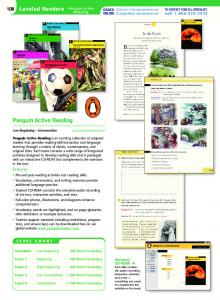 Penguin Active Reading - Pearson Longman