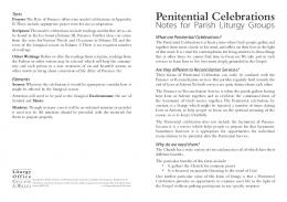 Penitential Celebrations - Liturgy Office