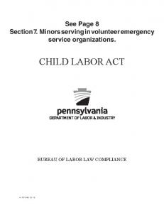 Pennsylvania Child Labor Law