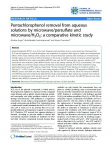 Pentachlorophenol removal from aqueous solutions by ... - CiteSeerX