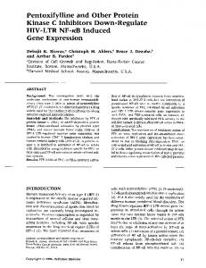 Pentoxifylline and Other Protein Gene Expression - NCBI