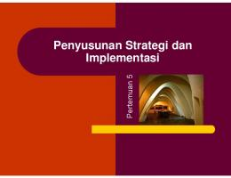 Penyusunan Strategi dan Implementasi - WordPress.com