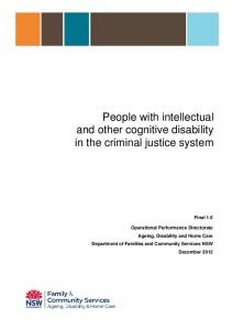 People with intellectual and other cognitive disability in the criminal ...