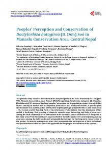 Peoples' Perception and Conservation of Dactylorhiza hatagirea (D ...