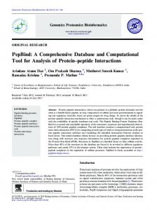 PepBind: A Comprehensive Database and ... - Semantic Scholar