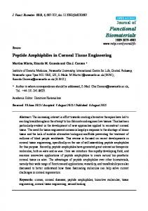 Peptide Amphiphiles in Corneal Tissue Engineering - MDPI
