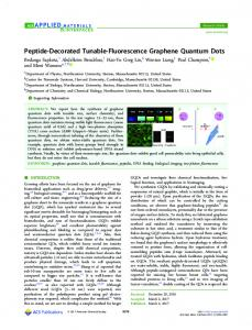 Peptide-Decorated Tunable-Fluorescence ... - ACS Publications