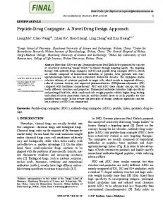 Peptide-Drug Conjugate: A Novel Drug Design
