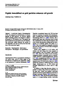Peptide immobilized on gold particles enhances cell ... - Springer Link