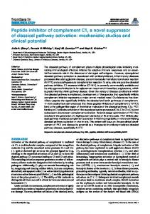 Peptide inhibitor of complement C1, a novel suppressor of ... - Core