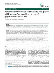 Perceived discrimination and health-related quality of life among ...