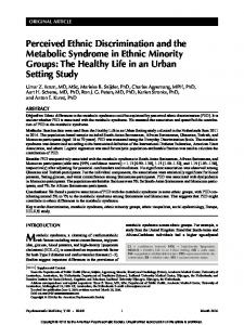 Perceived Ethnic Discrimination and the Metabolic ...