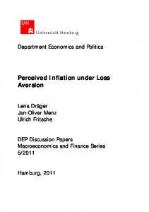Perceived Inflation under Loss Aversion - Core
