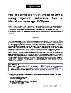 Percentile curves and reference values for 2000-m rowing ergometer