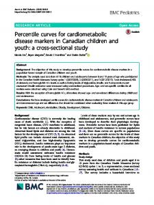 Percentile curves for cardiometabolic disease