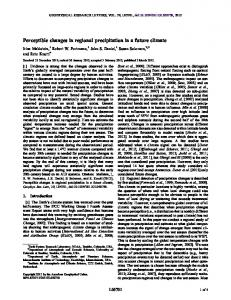 Perceptible changes in regional precipitation in ... - Wiley Online Library
