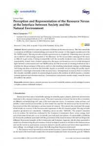 Perception and Representation of the Resource Nexus at the ... - MDPI