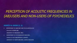 perception of acoustic frequencies in (ab)users and ...