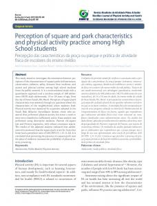 Perception of square and park characteristics and physical activity