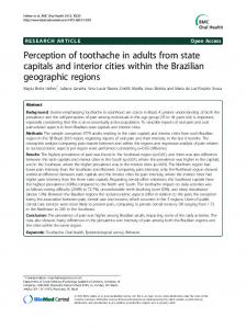 Perception of toothache in adults from state capitals and interior ...