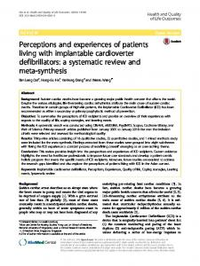 Perceptions and experiences of patients living with implantable ...