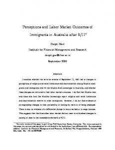 Perceptions and Labor Market Outcomes of Immigrants in Australia ...