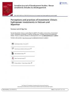 Perceptions and practices of investment: Chinas ...