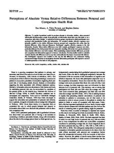 Perceptions of Absolute Versus Relative Differences Between ...