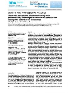 perceptions of communicating with ... - Wiley Online Library