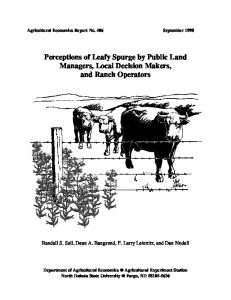 Perceptions of Leafy Spurge by Public Land ... - AgEcon Search