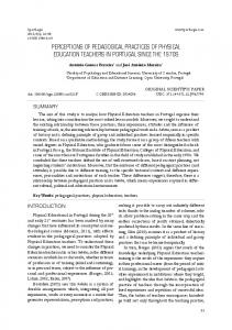 perceptions of pedagogical practices of physical ...