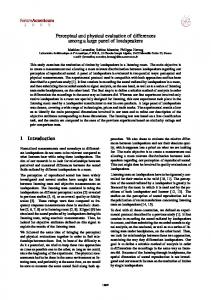 Perceptual and physical evaluation of differences among a ... - Webistem