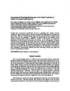 Perceptual and Physiological Responses to the Visual ... - CiteSeerX