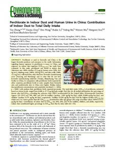 Perchlorate in Indoor Dust and Human Urine in ... - ACS Publications