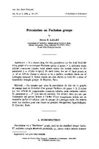 Percolation on Fuchsian groups - Department of Statistics