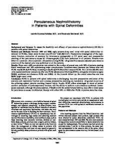 Percutaneous Nephrolithotomy in Patients with Spinal Deformities