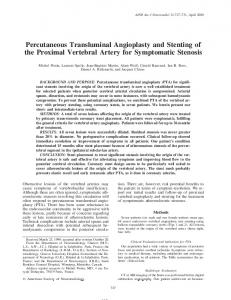 Percutaneous Transluminal Angioplasty and