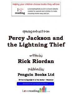 Percy Jackson and the Lightning Thief - Blog